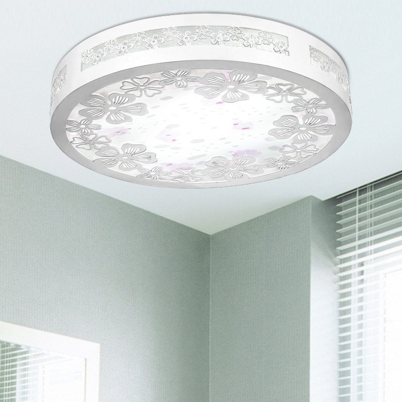 博胜 木铁简约现代镀铬圆形节能灯led 吸顶灯