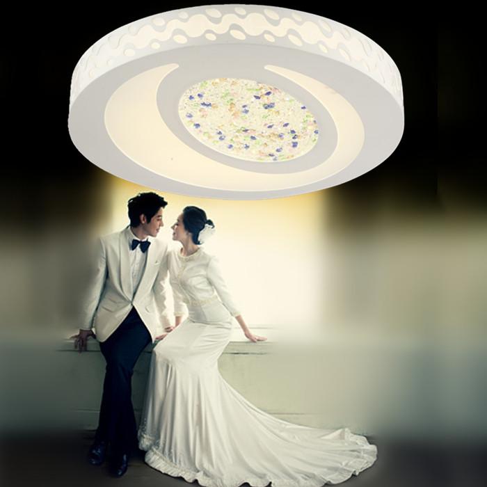 欧特朗家居 简约现代镂空雕花圆形LED 吸顶灯