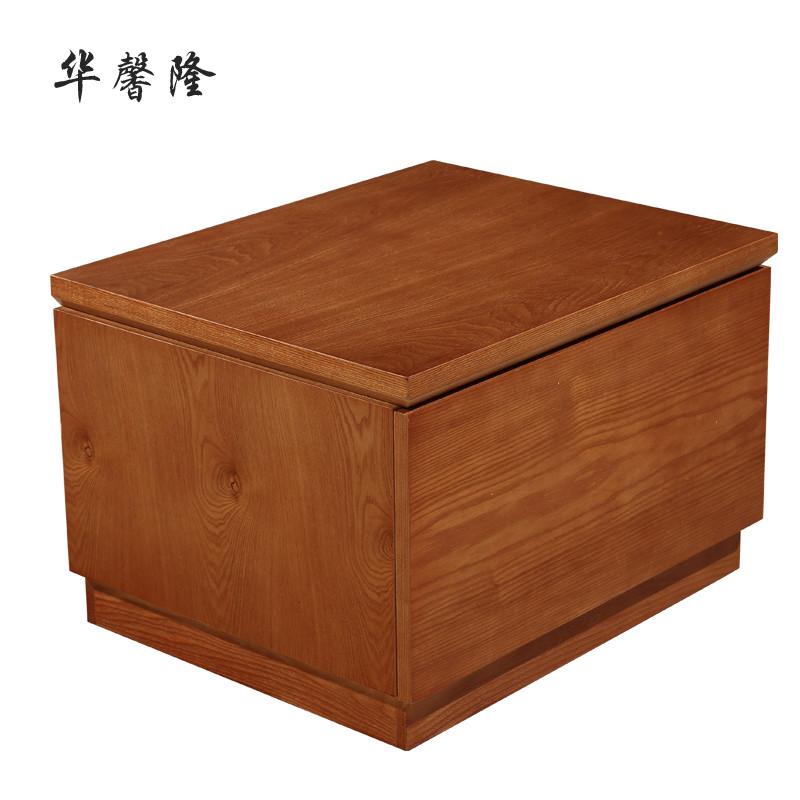 华馨隆 a-10床头柜箱框结构水曲柳储藏成人现代中式 床头柜