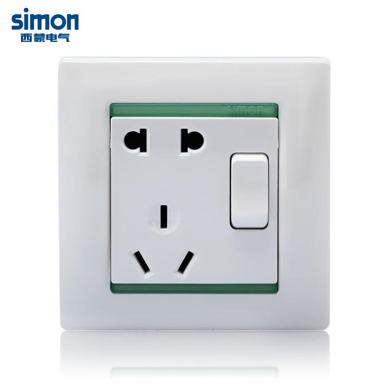 西蒙 雅白86型 Simon/西蒙  59086E插座