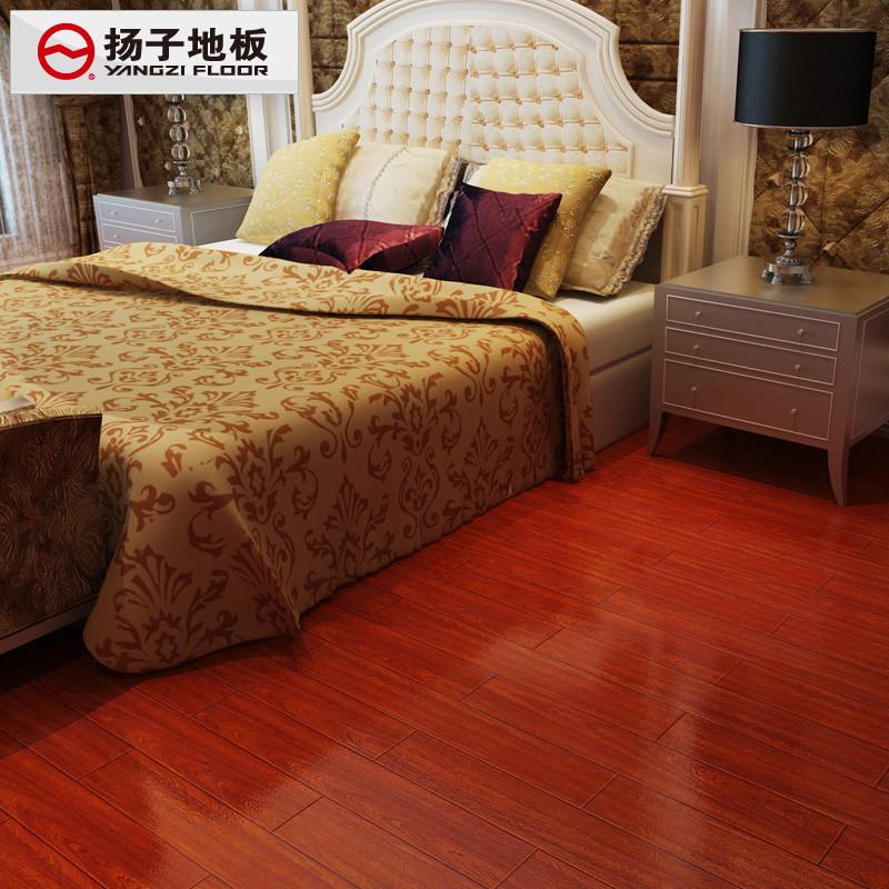 扬子 红木映像高密度纤维板V型槽 地板