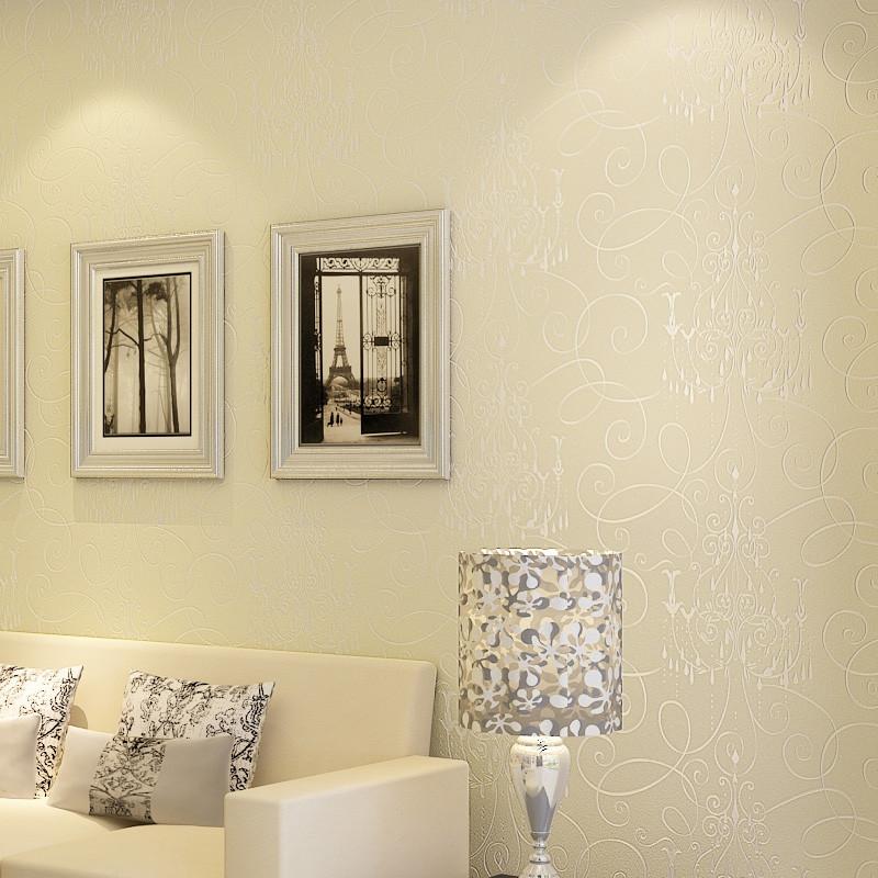 德尔菲诺 压花有图案大花客厅简约现代 墙纸