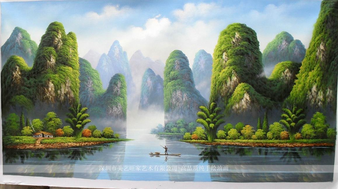 美艺旺家 单幅风景 gn29油画