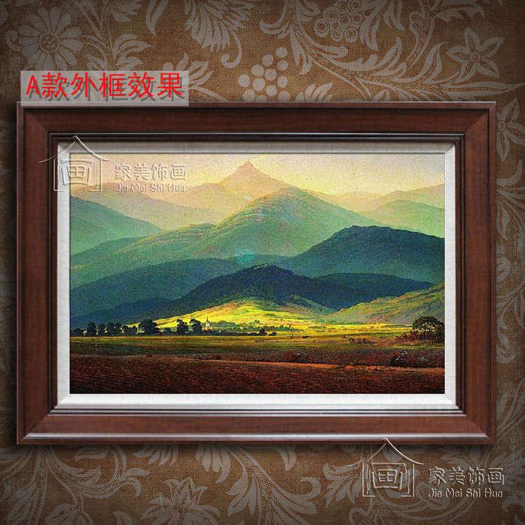 家美饰画 立体无框有框单幅 纯手绘油画风景 油画