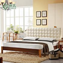 橡胶木组装式架子09床床现代中式 床
