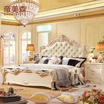 常规气动床常规床橡木框架结构欧式雕刻 床