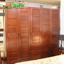咖啡色海棠木平拉门成人现代中式 hg-05+06衣柜衣柜