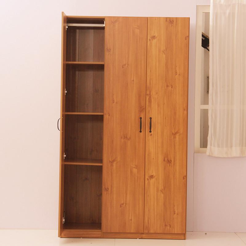 海森堡 白松色田园松色木纹拆装平拉门成人简约现代 衣柜