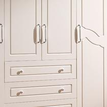 哑光密度板/纤维板拆装平拉门成人田园 衣柜