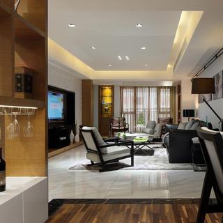 160平现代简约装修客厅效果图