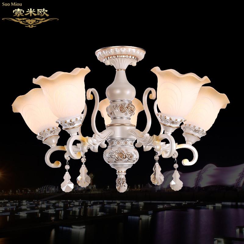 索米欧 铁水晶玻璃树脂欧式喷漆磨砂白炽灯节能灯led