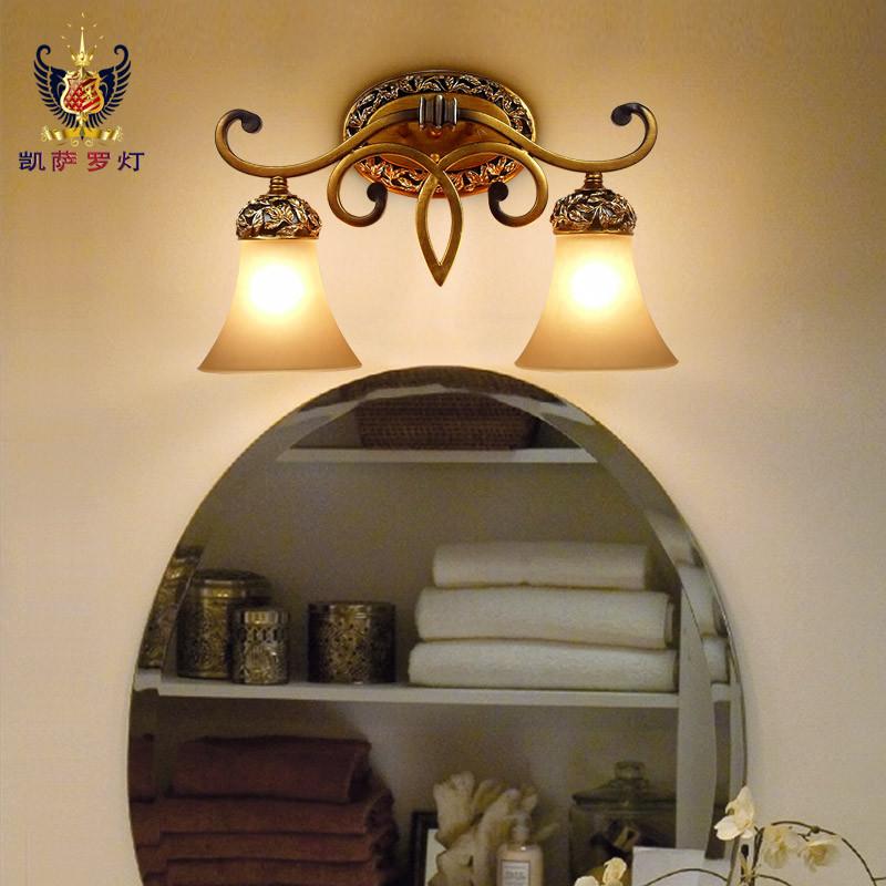 凯萨·罗灯 玻璃树脂欧式喷漆磨砂白炽灯 壁灯
