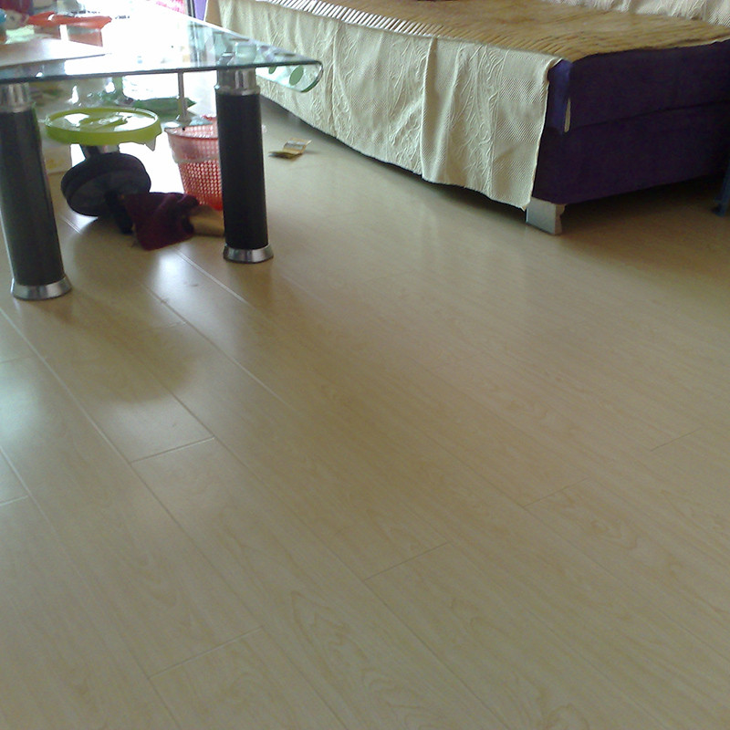 得福 单板价高密度纤维板 3801#北美枫情地板
