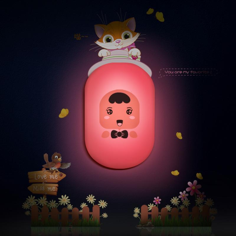 欣兰雅舍 黄色粉红色led 小夜灯
