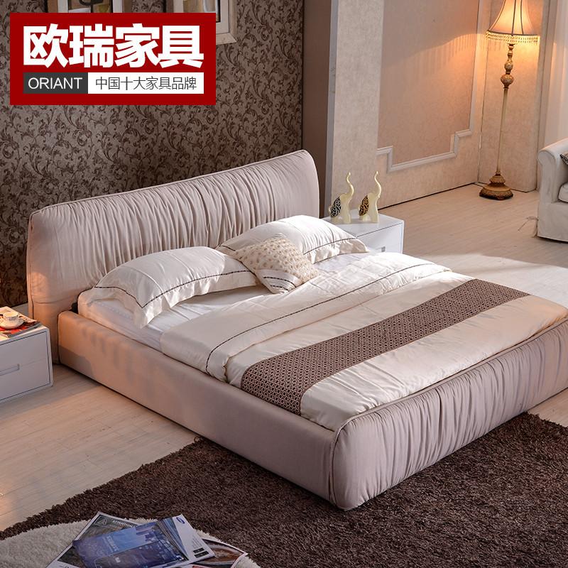 卡其色玫红色无组装式架子床方形简约现代