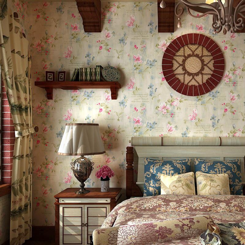 歌诗雅 印花有图案碎花客厅美式乡村 墙纸