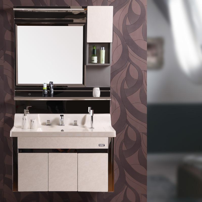 科菲尼 不锈钢人造石台面e1级欧式 浴室柜