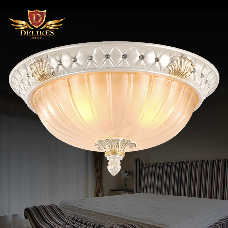 迪莱克斯 玻璃树脂欧式喷漆磨砂圆形白炽灯节能灯led