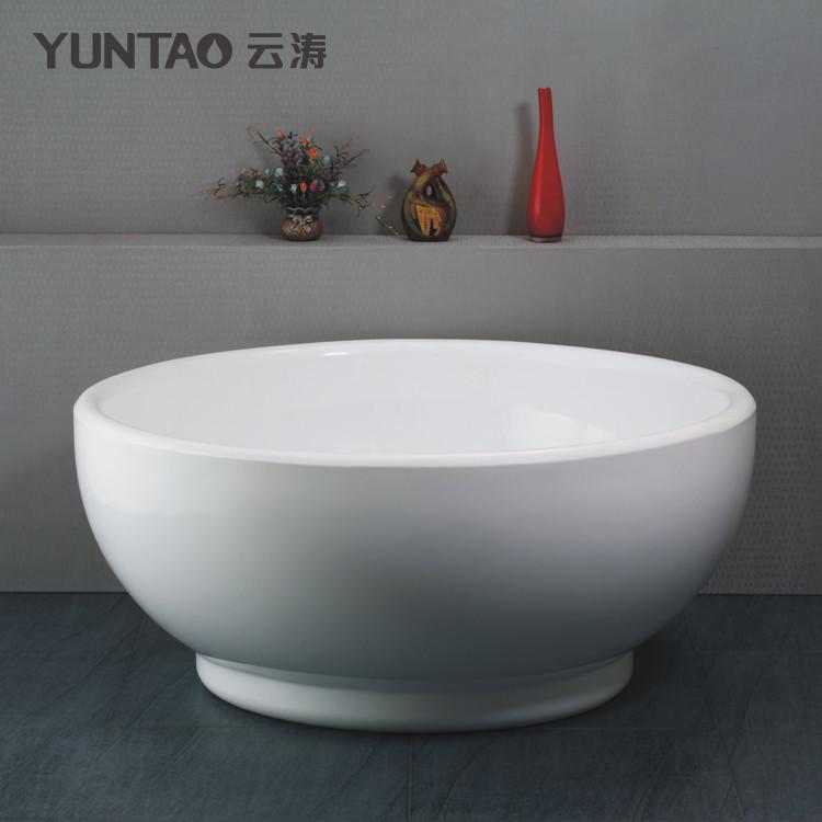 云涛 白色有机玻璃独立式 浴缸_齐家网装修效果图