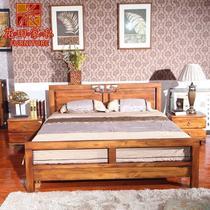 黑胡桃色框架结构东南亚雕刻 床