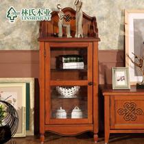 楸木色装饰柜框架结构储藏美式乡村 jh01壁炉