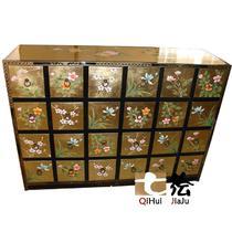 玄关柜密度板/纤维板支架结构储藏植物花卉新古典 壁炉