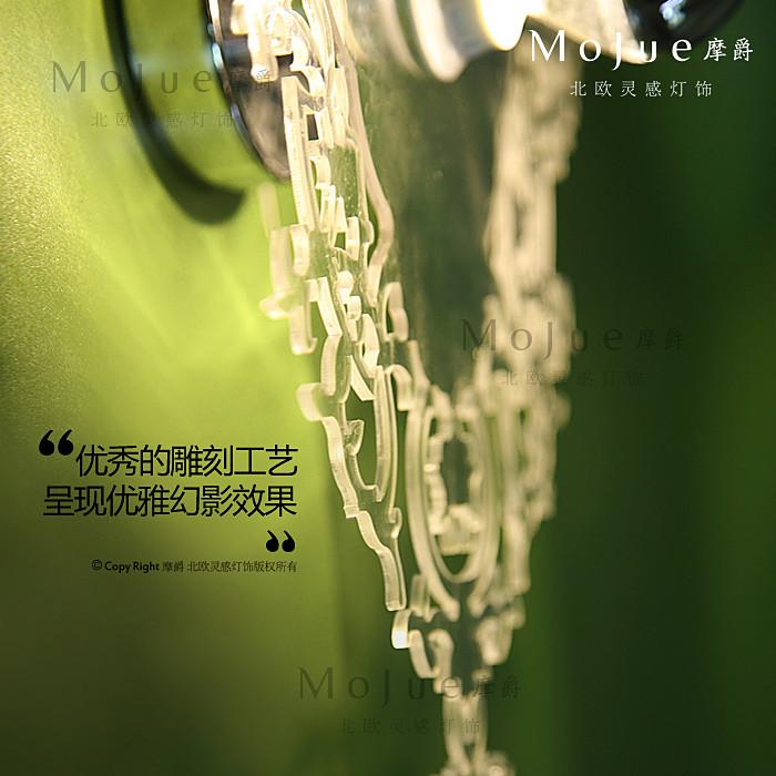 菱形罗马花纹蜡烛型布有机玻璃新古典雕刻白炽