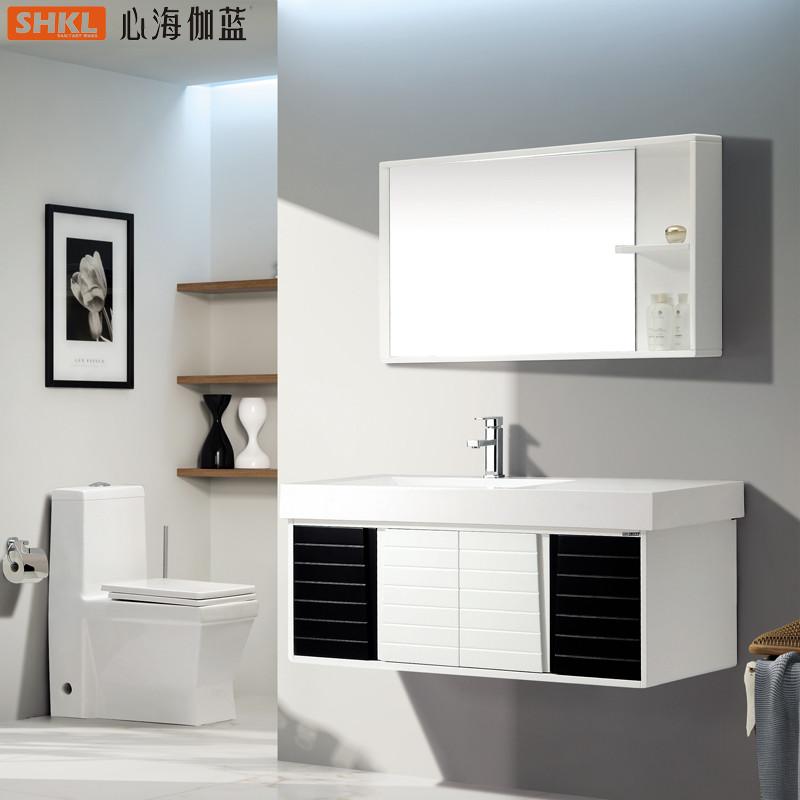 伽蓝 橡木人造石台面 浴室柜