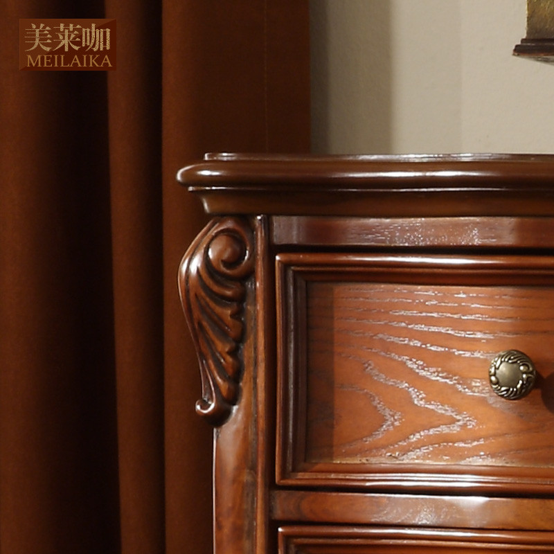 美莱咖 五斗柜框架结构桦木储藏艺术成人美式乡村 斗柜