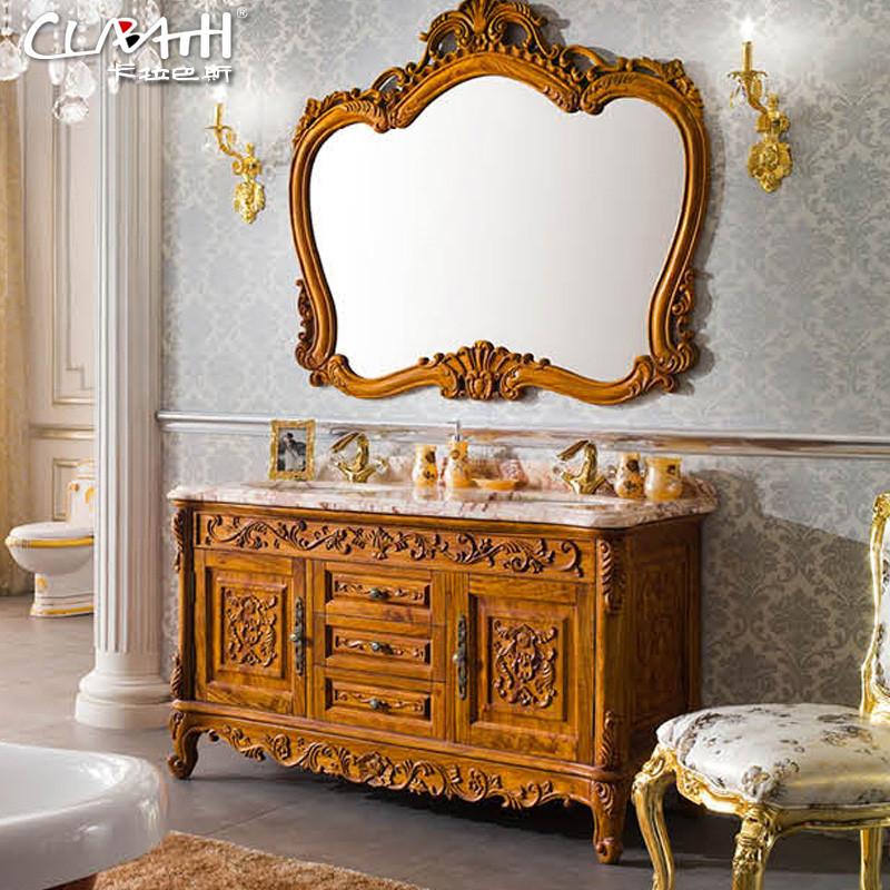 卡拉巴斯 含带配套面盆大理石台面欧式 kb-hl091浴室柜