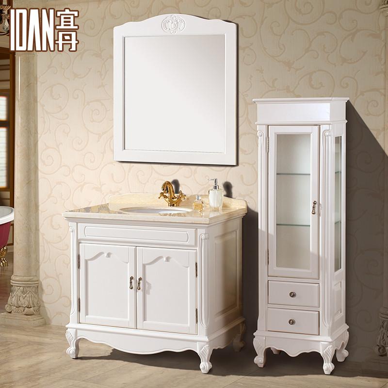 宜丹 橡胶木大理石台面e0级欧式 wx824100浴室柜