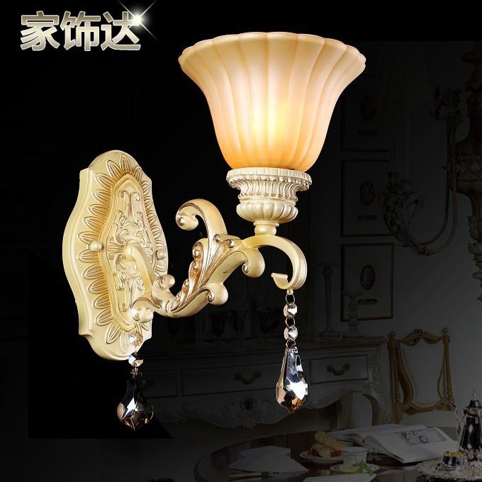 家饰达 玻璃树脂欧式镂空雕花 壁灯