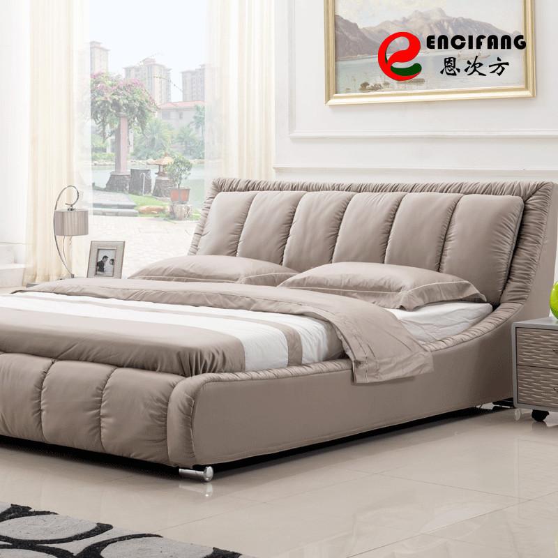 木褶皱组装式架子床混纺方形简约现代