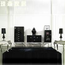 框架结构桦木艺术新古典 视听柜