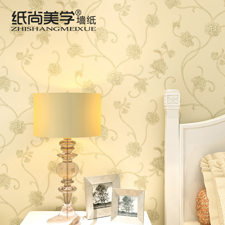 纸尚美学 压花有图案卧室欧式 AE46502墙纸