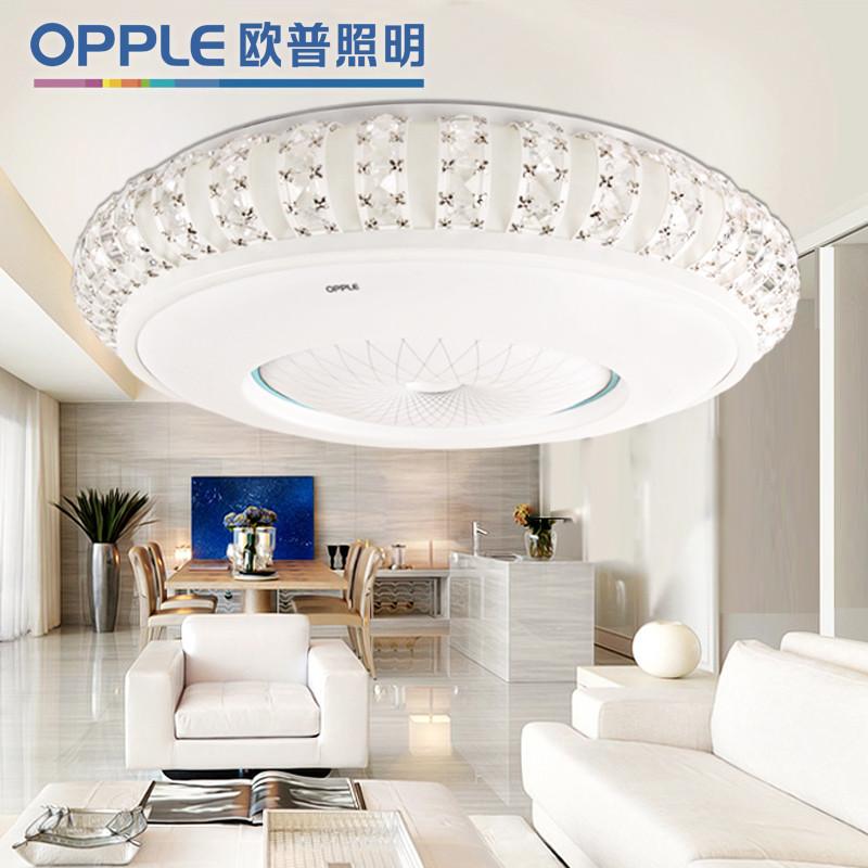 欧普照明 PMMA高透光率灯罩ABS+五金底盘简约现代吹塑圆形荧光灯 12-XD-40666吸顶灯