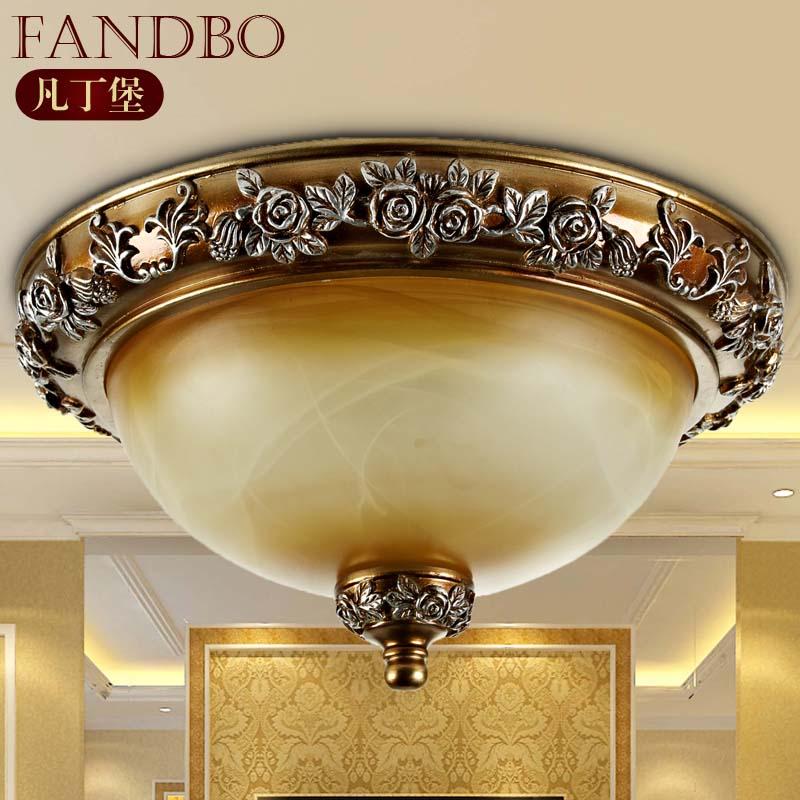 凡丁堡 玻璃树脂欧式雕刻圆形白炽灯节能灯led 吸顶灯