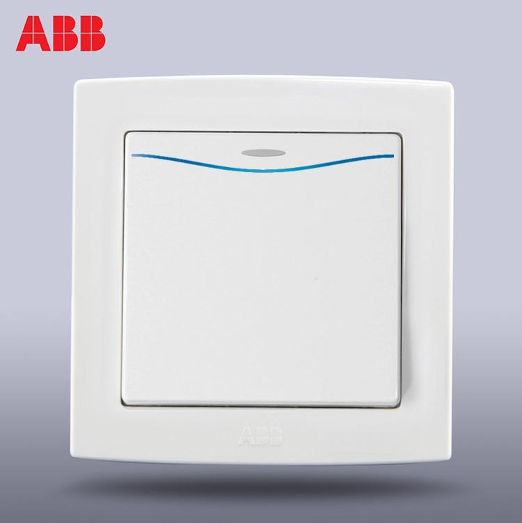 ABB 雅白86型 德韵直边AL161白色开关