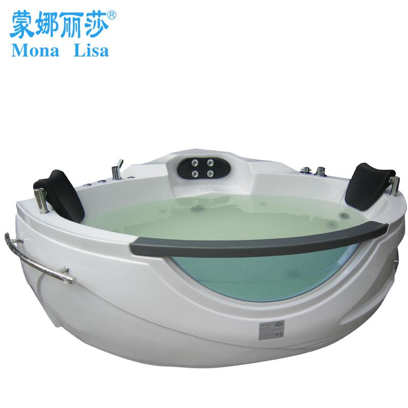 蒙娜麗莎 有機玻璃沖浪按摩智能面板控制獨立式 浴缸