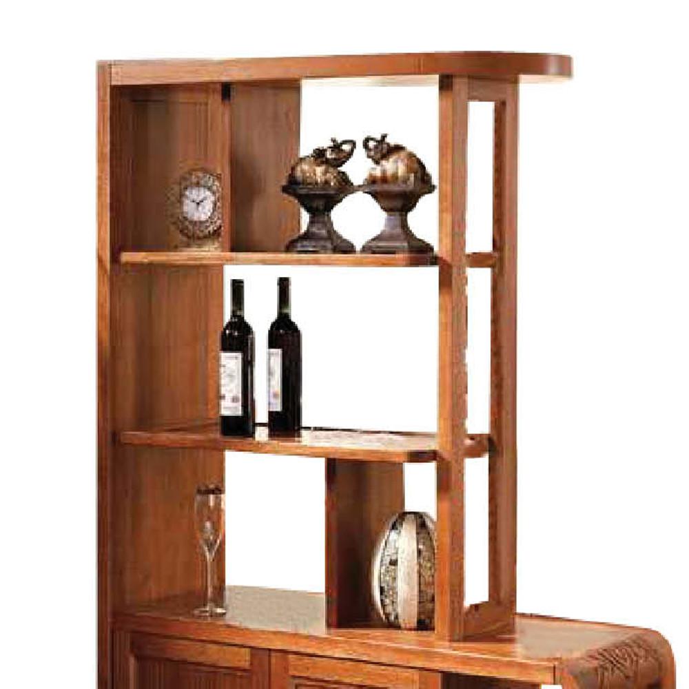 胡桃木(全实木)酒架框架结构核桃木储藏艺术
