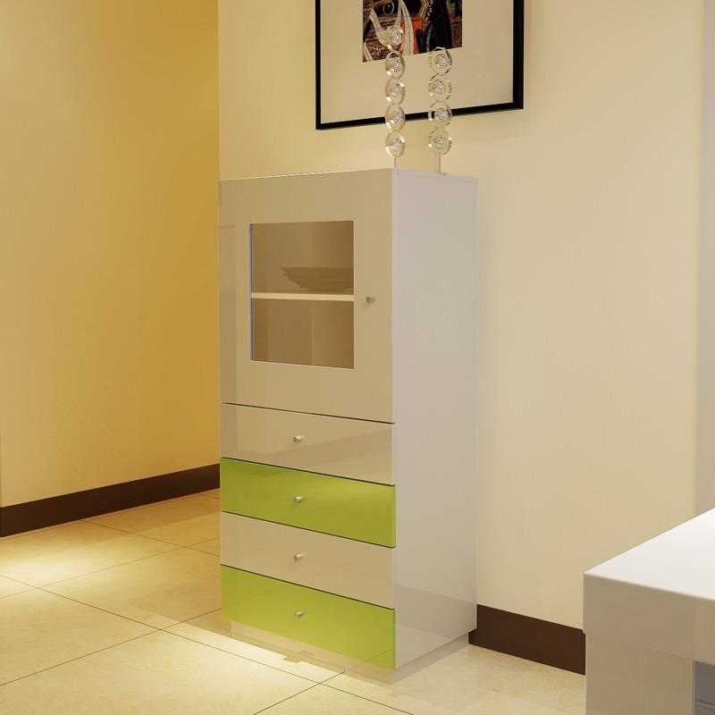 一米爱 白色密度板/纤维板框架结构储藏艺术简约现代 餐边柜