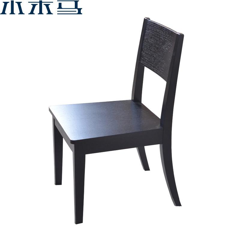 优越豪庭 黑色实木皮饰面橡木移动成人简约现代 餐椅价格,图片,品