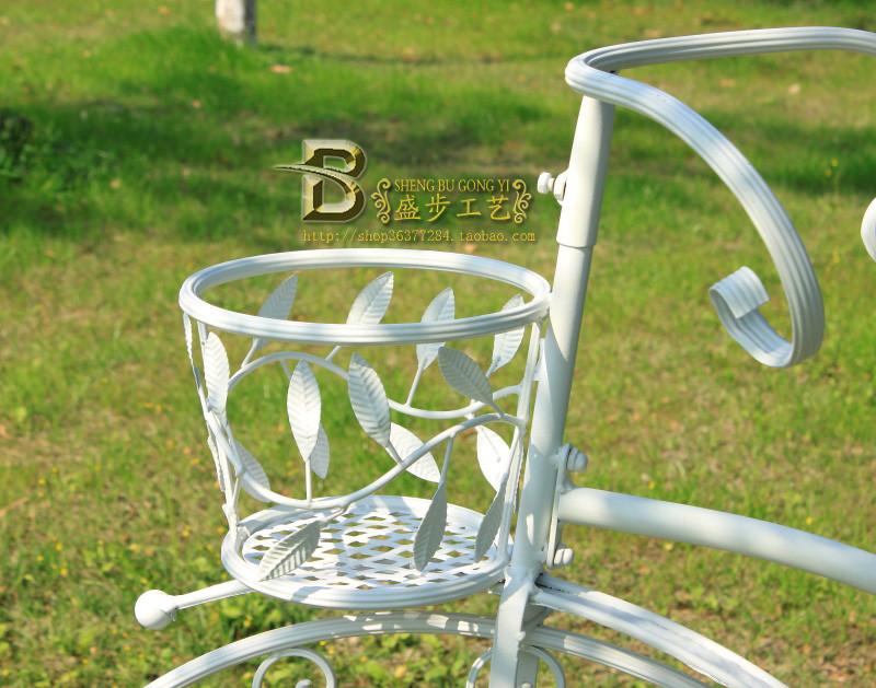 盛步 白色焊接铁金属工艺支架结构拆装欧式 sb98花架
