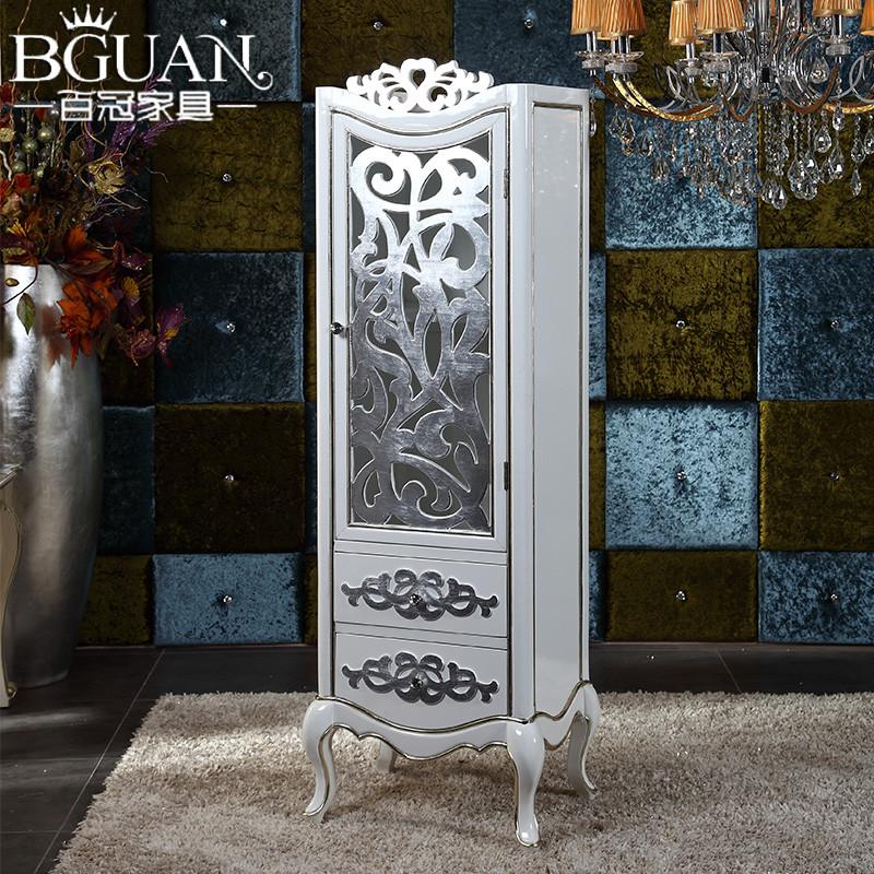 百冠家具 颜色可订制玻璃框架结构橡木储藏艺术新古典