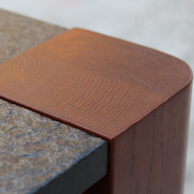 兆升家具 大理石油漆工藝木質工藝噴漆水曲柳簡約現代