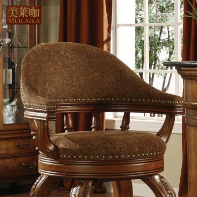 美莱咖 旋转吧椅油漆工艺木质工艺做旧雕刻框架结构多