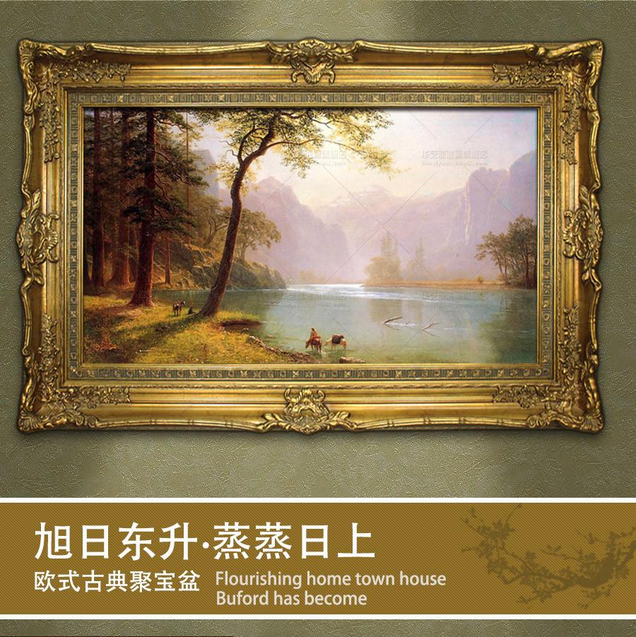华艺源 立体有框单幅(横版)风景手绘 油画价格,图片