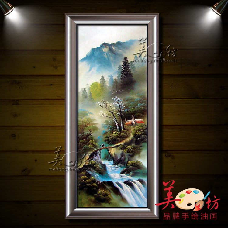 美坊 立体有框风景手绘 149fj油画
