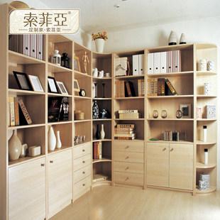 索菲亚 柜体/平米人造板密度板/纤维板成人欧式 索菲亚EG款白枫木书柜书柜