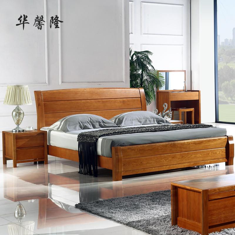 水曲柳组装式架子床现代中式拼板